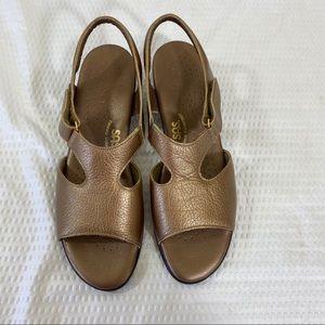 SAS Tripad Comfort Bronze Leather Slingback Sandal